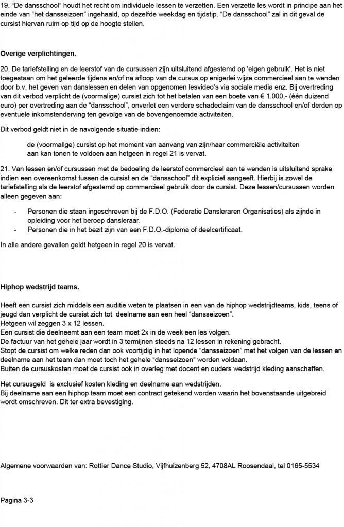 ALGEMENE VOORWAARDEN ROTTIER DANCEMASTERS v2.1 pagina 3-3